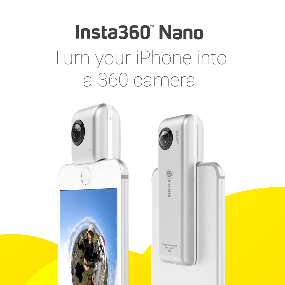 Insta360 Nano Turn Your Iphone Into A 360 Vr Camera