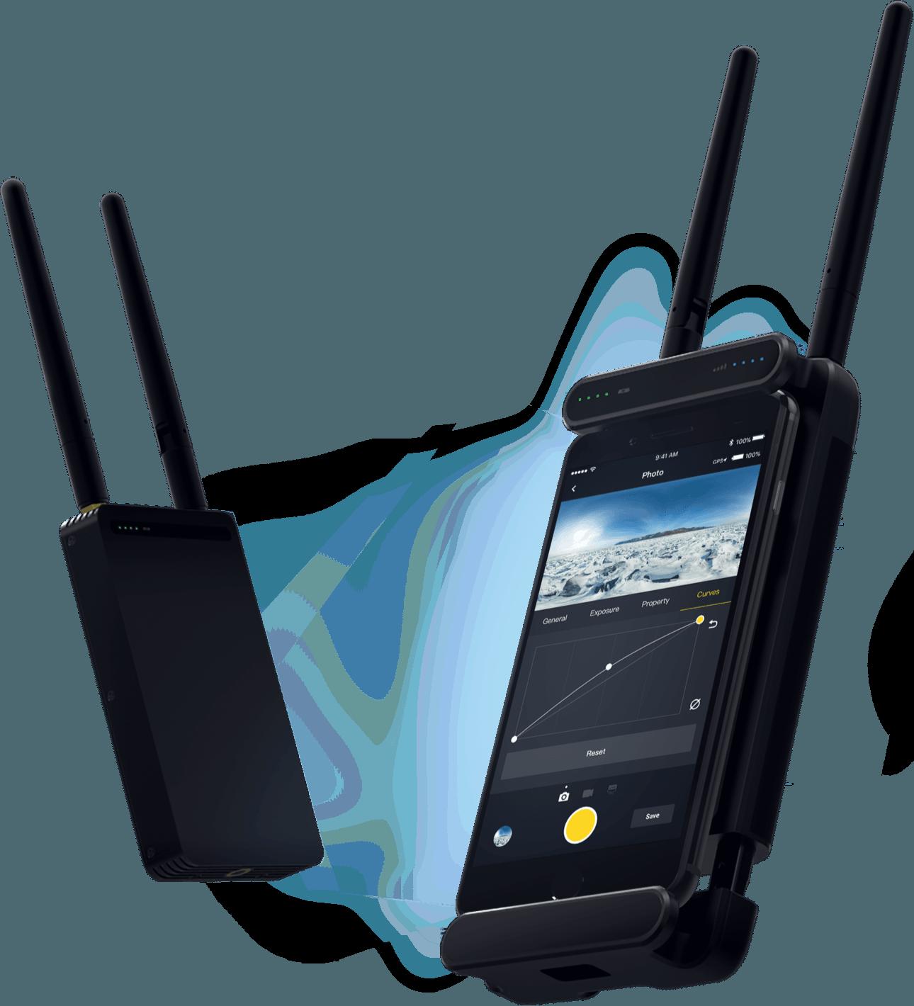 Insta360 Pro 2 Farsight live monitoring system